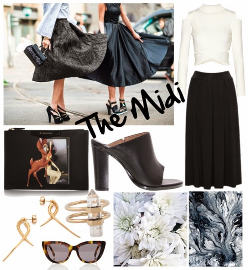 Midi skirts from Metalicus and how to wear the trend on Styled by Sasha