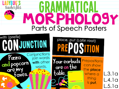 http://www.teacherspayteachers.com/Product/Grammatical-Morphology-Parts-of-Speech-Posters-1001343