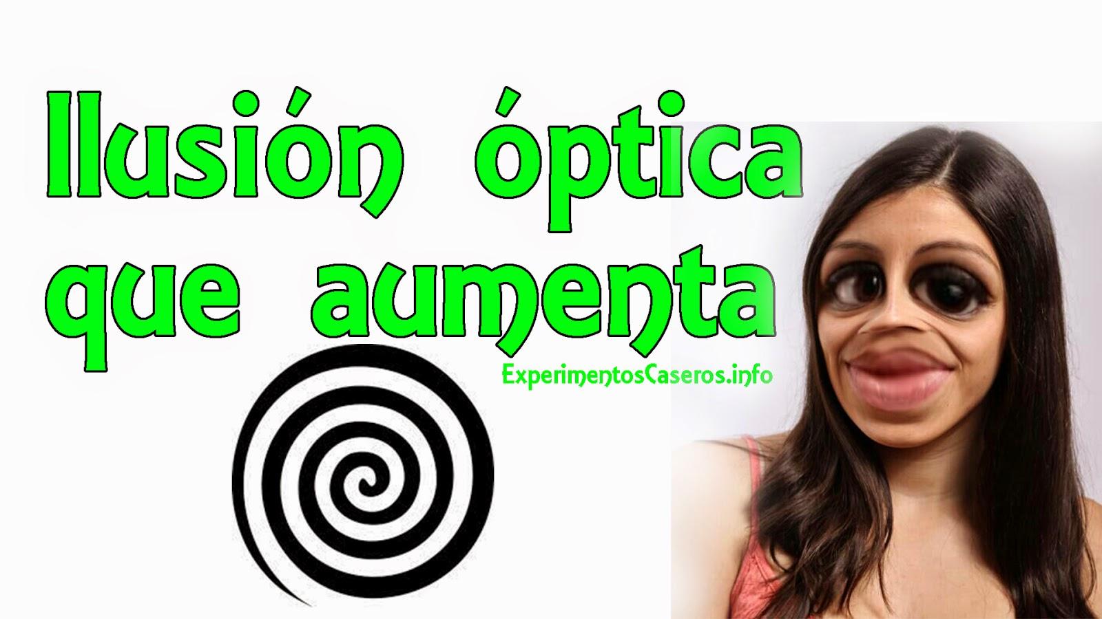 Ilusión óptica que aumentará las cosas de tamaño, ilusiones ópticas, experimentos caseros, experimentos para niños, ilusión , ilusiones, espiral, experimentos, experimento, experimentos sencillos, experimentos fáciles, inventos caseros, inventos sencillos, inventos, invento, experimentos, experimento