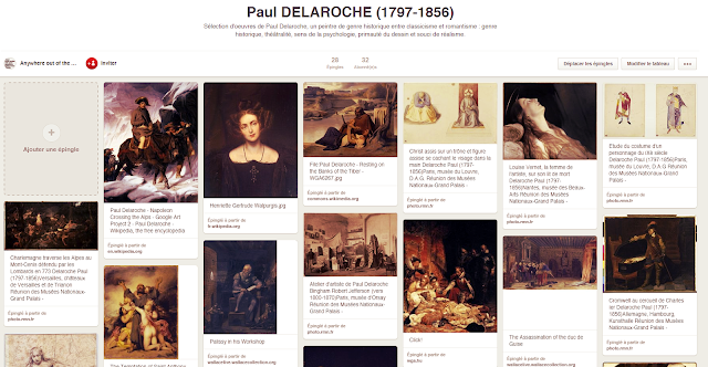 Paul Delaroche - Tableau Pinterest