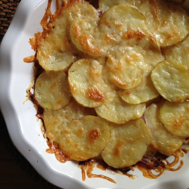 horseradish and thyme potato gratin