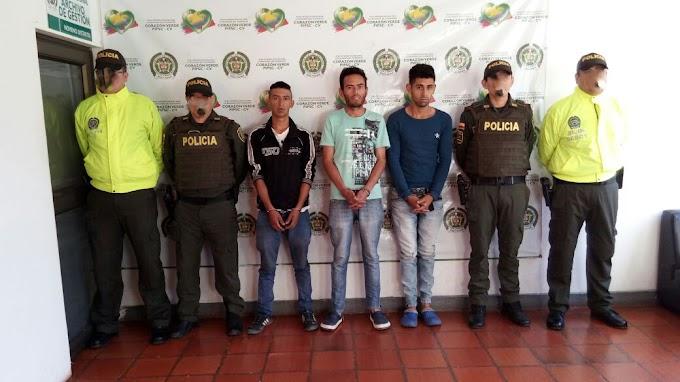 Duro golpe al microtráfico en Soatá, tres capturados