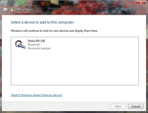 pair bluetooth headset windows 7