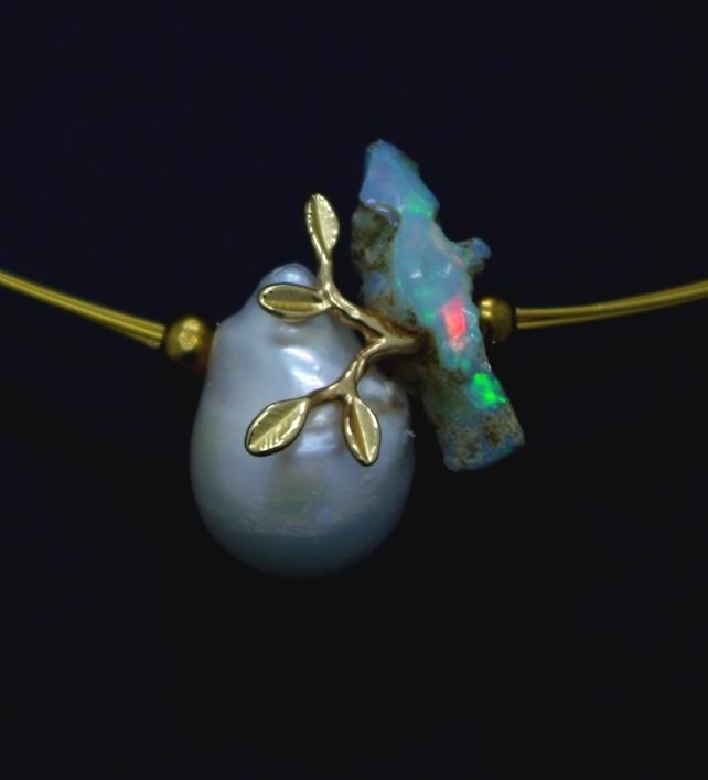 Perle d'eau douce, Opale d'Ethiopie