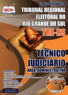 Apostila Tribunal Regional Eleitoral do RS concurso TRERS Técnico Judiciário.