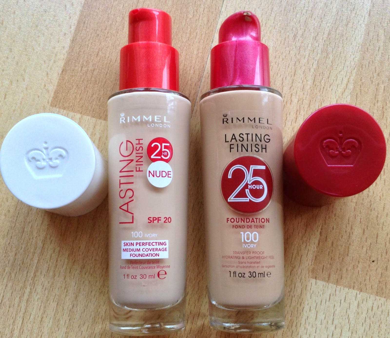 Rimmel 25HR Lasting Finish NUDE Foundation - Review, Swatches and Comparison