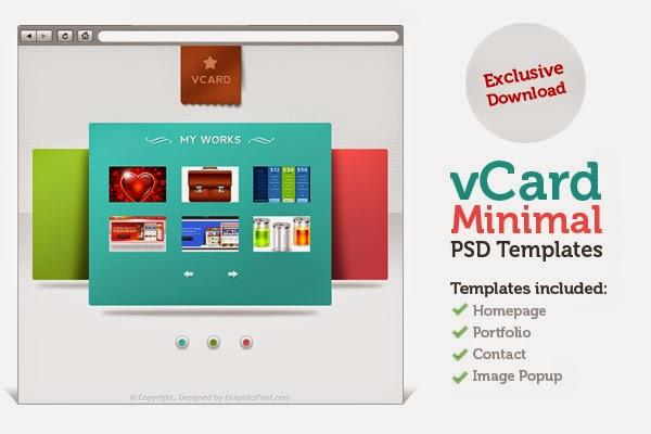 V-Card Minimal Website Templates PSD