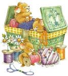 Pode procurar! Na caixa de costura tem linhas, botões, tesourinha e muito amor!