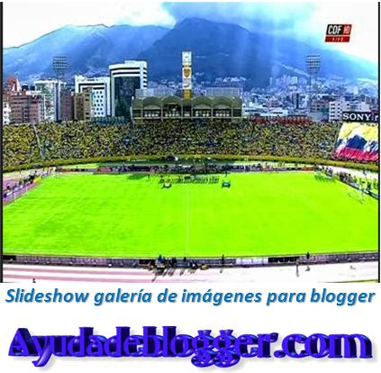 Slideshow galería de imágenes para blogger