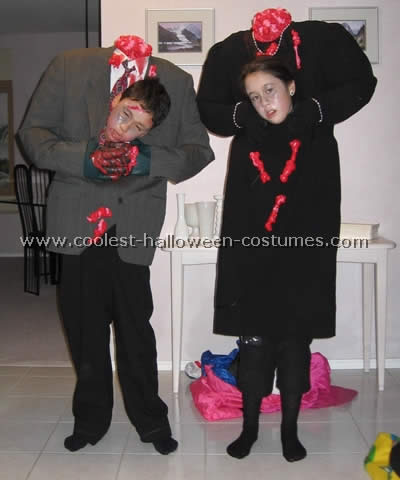 Scary Headless Body Halloween Costume as seen on Coolest Halloween Costumes