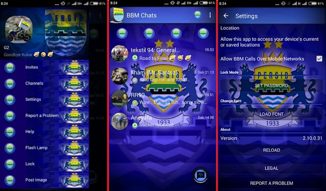 BBM Mod (Not Clone) Tema Persib Bandung Versi 2.10.0.31 Apk