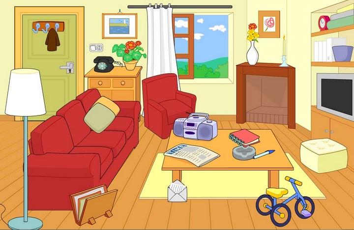 Maestra erika valecillo partes de la casa for Sala de estar animada