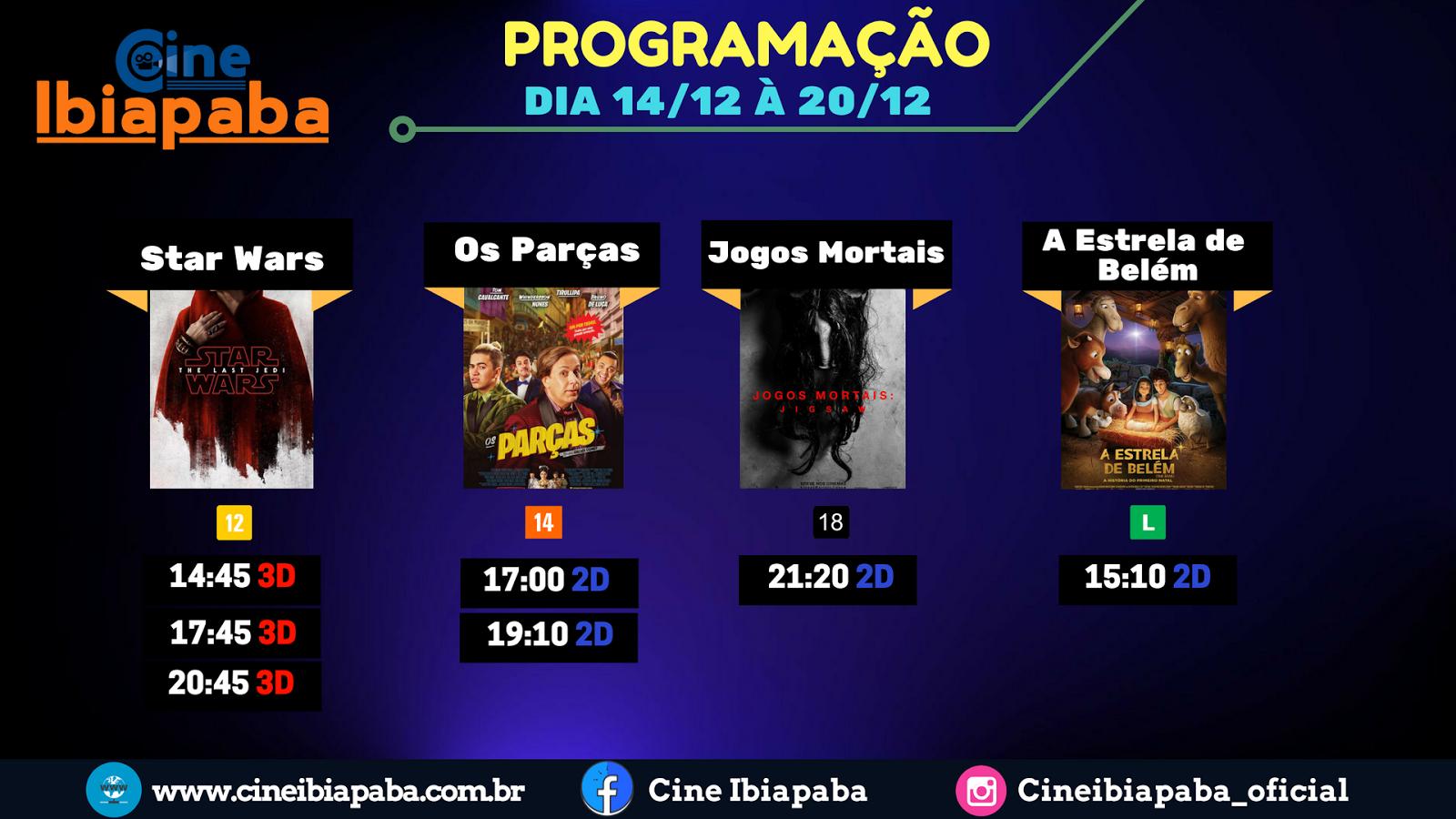 Programação Cine Ibiapaba