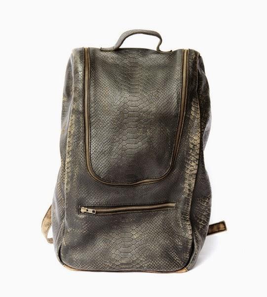 Sac Backpack Mere, python lavé, sac à dos