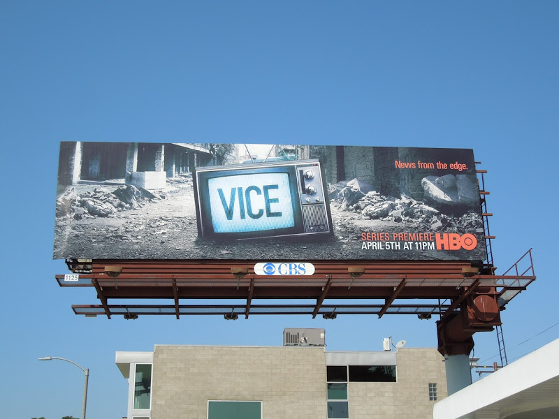 Vice series premiere TV billboard