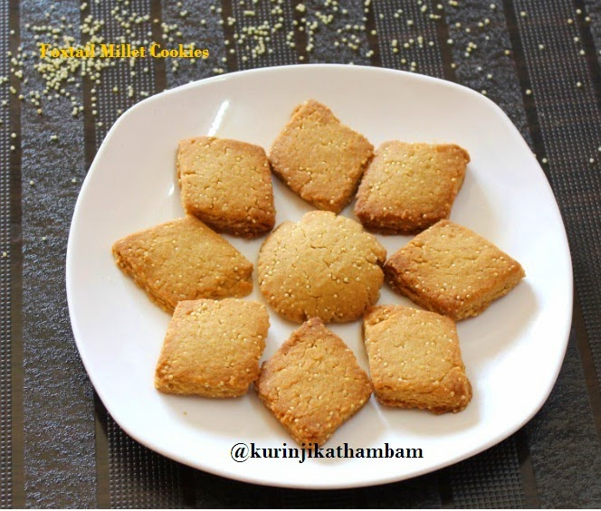 Foxtail Millet Cookie / Thinai Biscuit   Foxtail Millet Recipes