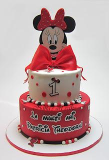 """Tort """"Minnie Mouse' pentru Patricia"""