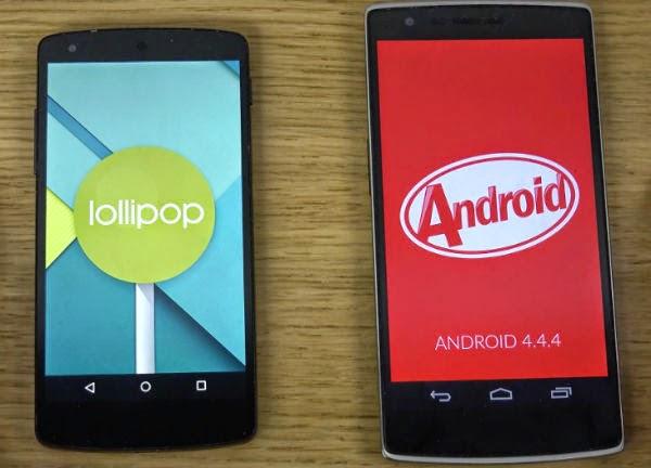 Android KitKat Vs Lollipop: أهم الفروقات الرئيسية التي يجب ان تعرفها