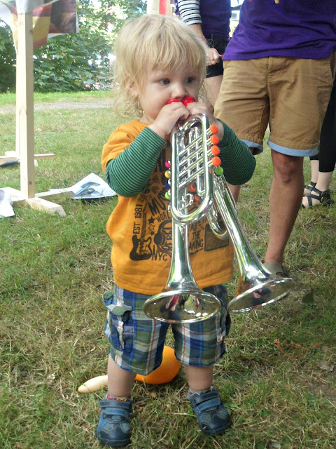 2 trumpets are better than 1 - at Camp Bestival
