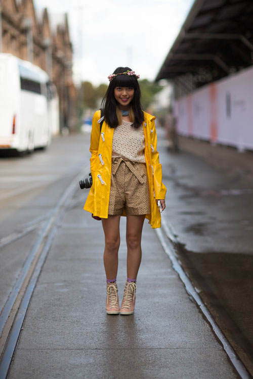 Street style Sydney Fashion Week street color style