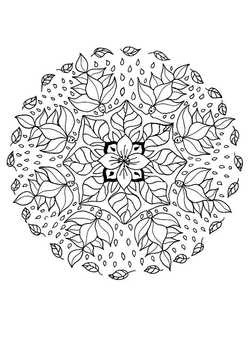 flower mandala coloring pages flower coloring page