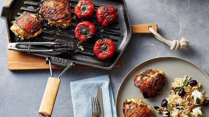 Greek chicken with roasted capsicum