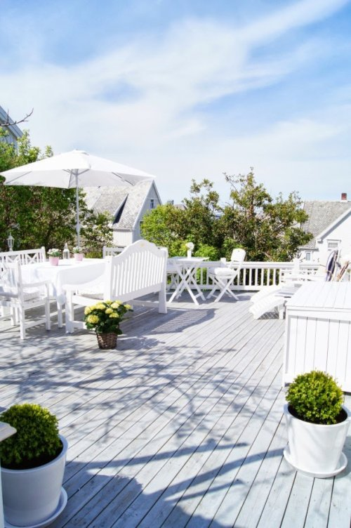 terraza en blanco