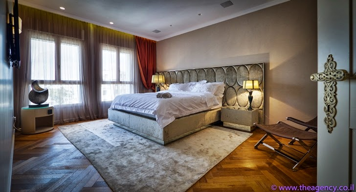 "Bedroom in an Elegant ""Jerusalem Dreams"" Penthouse Apartment"