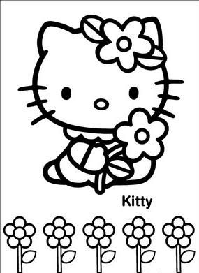 a desenhar hello kitty com lindos laços colorir