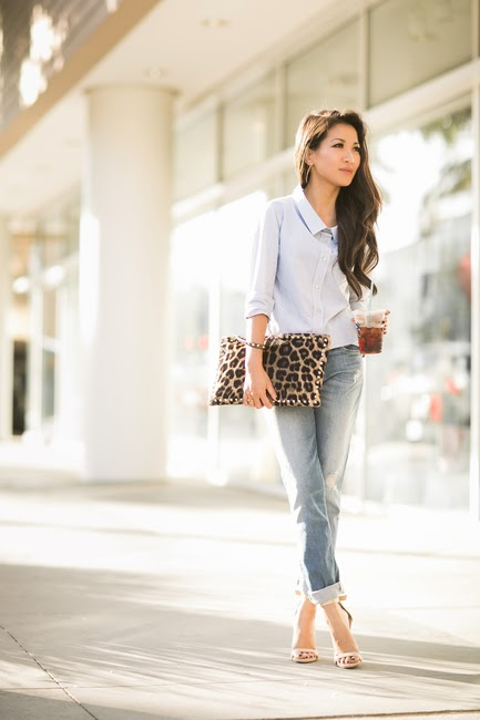 outfit inspiration, blogger style, classic, tailored, Wendy's Lookbook, leopard, boyfriend jeans