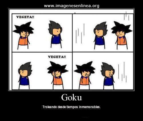 Goku troleando desde tiempos inmemorables.... Imagenes para compartir en facebook.