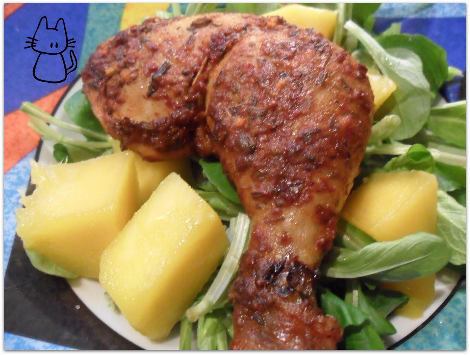 La t te dans le chaudron cuisses de poulet grill es au citron piments et herbes - Cuisse de poulet grille au four ...