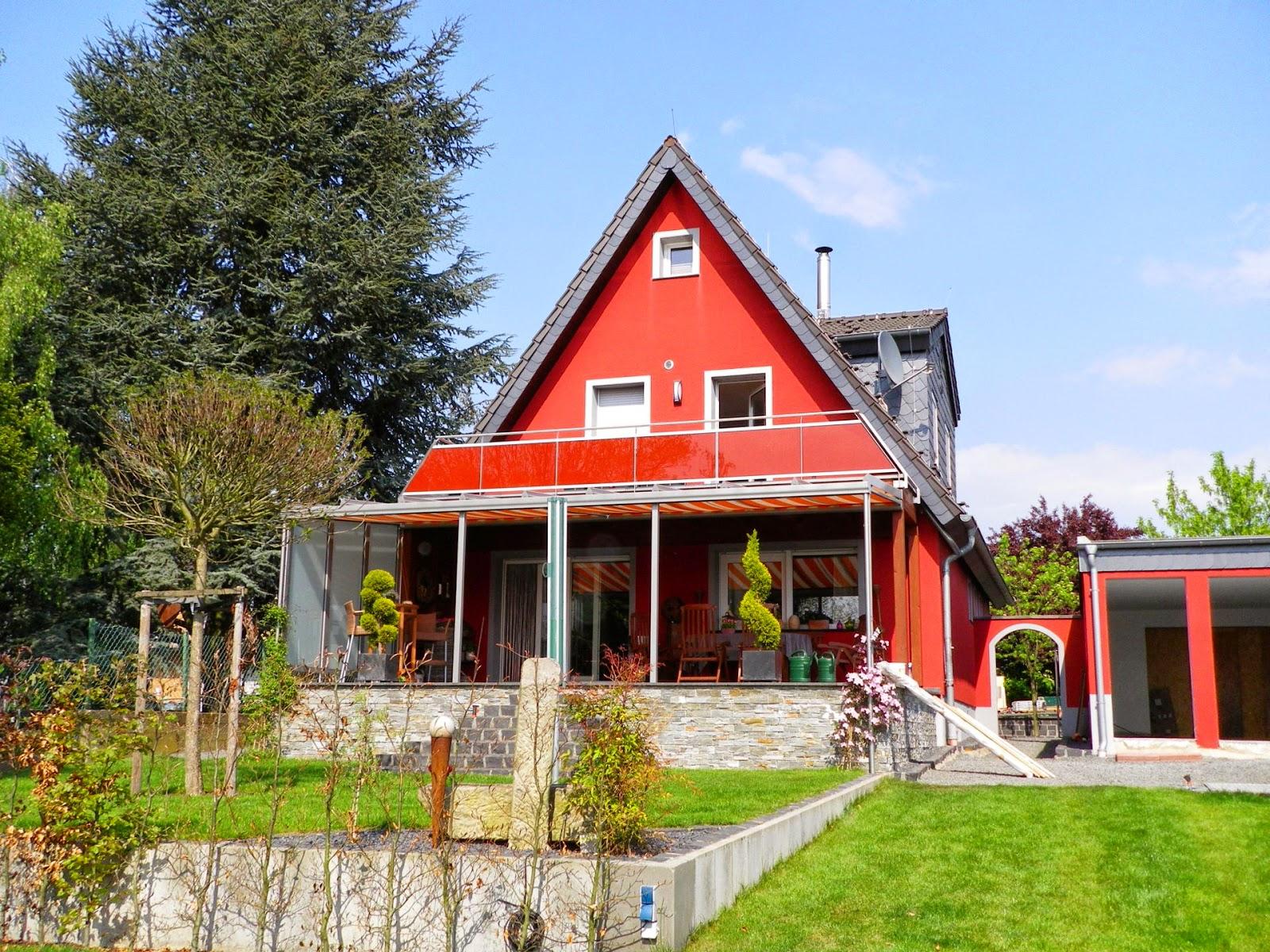 edelstahl terrassengel nder mit 2 farbigen glas fr bel metallbau. Black Bedroom Furniture Sets. Home Design Ideas