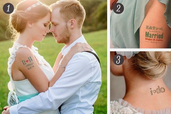 Top Temporary Tattoos for a Wedding!