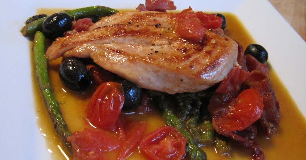 Pan Cooked Chicken, Asparagus and Smoked Bacon - A Glug of Oil