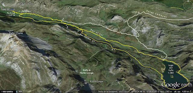 Mapa 2 Ruta Valle del Lago - ortográfico