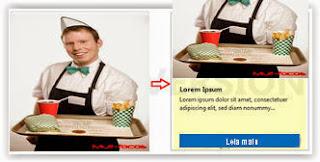 Garson servindo sanduiche