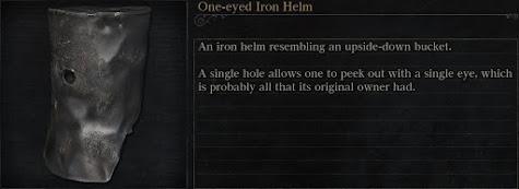 One-eyed Iron Helm