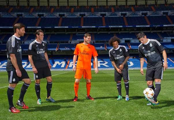 equipación Champions dragones portero y jugadores Real Madrid 2014 2015