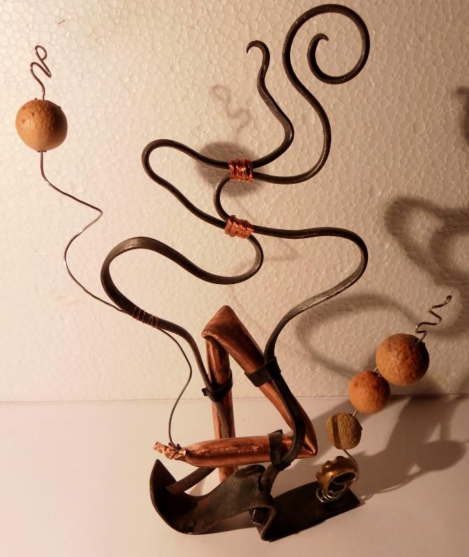 """Sculpture métal """"Les Danseurs"""" - art singulier"""