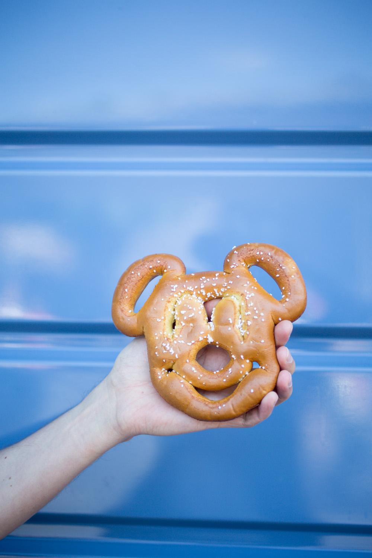 Disneyland Food Blog- Mickey Mouse Salted Pretzel