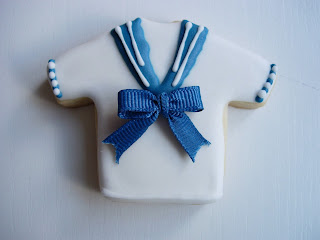 Galleta comunion camisa marinero