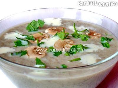 Supa crema de ciuperci reteta