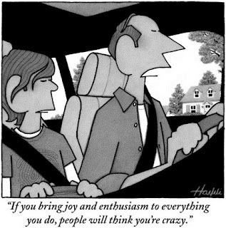 New Yorker cartoon - Enthusiasm by William Haefeli