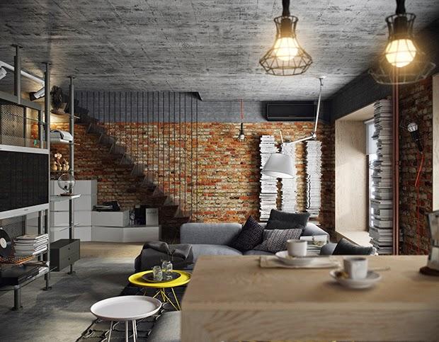 white interior design odkryta instalacja ceg a oryginalna zabudowa czyli wszystko co loft. Black Bedroom Furniture Sets. Home Design Ideas