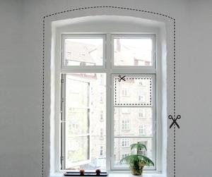 Adesivo de parede na janela