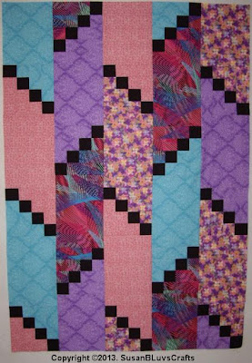 Diagonal Puzzle quilt top