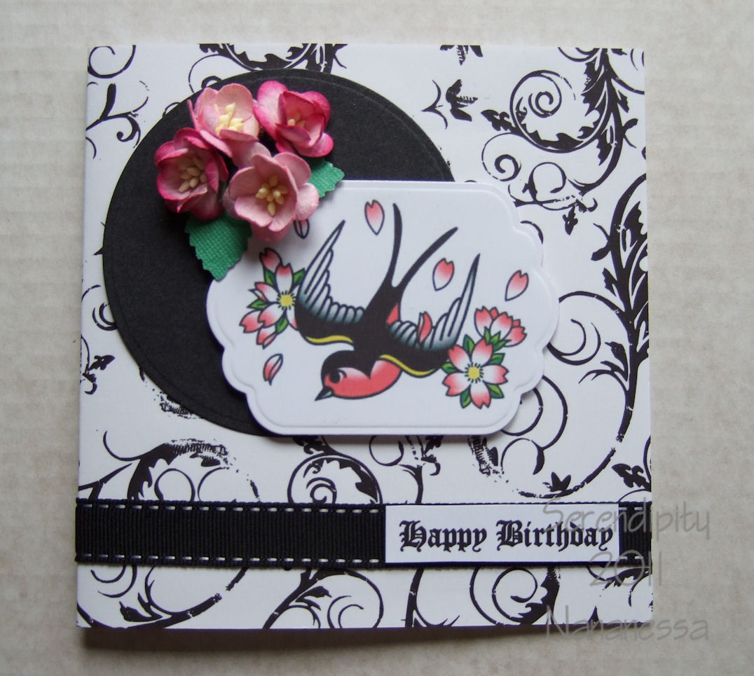 serendipity tattoo card, Birthday card