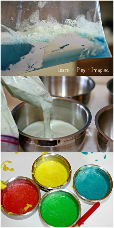 Toddler made - no cook - homemade paint recipe