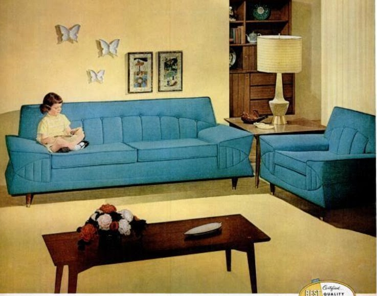 My Pretty Baby Cried She Was A Bird: Kroehler Furniture Co. Couches  (1958 1959)
